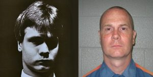 "Richard Wershe Jr., aka ""White Boy Rick"" as a teen and now."