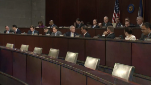 Members of the House Intelligence Committee during the Brennan testimony. Photo via U.S. Capitol.