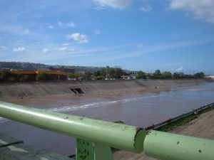 Tijuana River from a pedestrian bridge, by BrokenSphere. via Wikipedia.