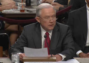 AG Jeff Sessions testifies before the Senate Intelligence Committee on Tuesday.