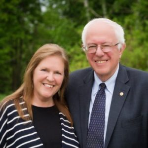 Jane and Bernie Sanders, via Twitter