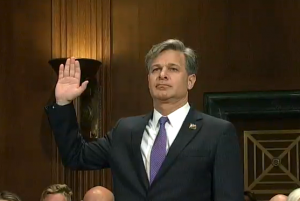 Christopher Wray at confirmation hearing.