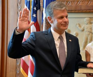 Christopher Wray is sworn in as the new FBI director. Photo via FBI.