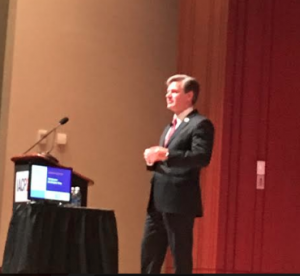 Christopher Wray speaks at IACP in Philly.