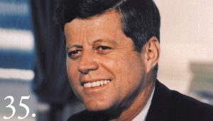 John F. Kennedy, via White House archives.